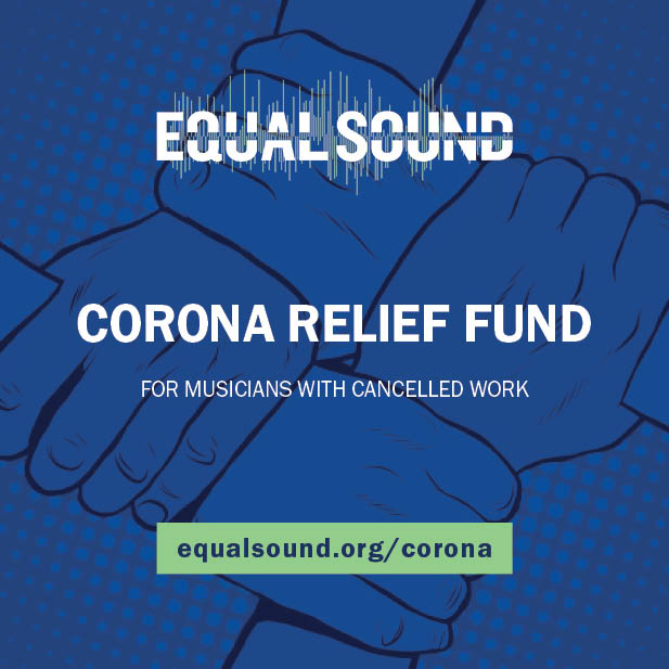 Equal Sound Corona Relief Fund flier with stolen background art